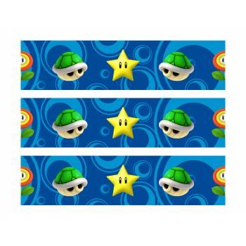 3 Bänder Von Kuchen Zucker Dekor Mario