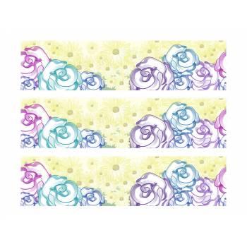 3 Kuchen Bänder Zucker Dekoration Blumen