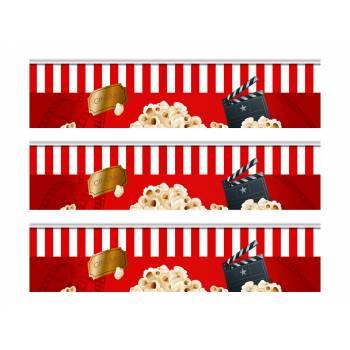 3 Bänder kuchen zucker dekoration kino popcorn