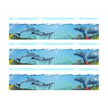 3 Kuchen-Bänder Tortenaufleger Delphin