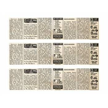 3 Kuchen Bänder Zucker Dekor Zeitung