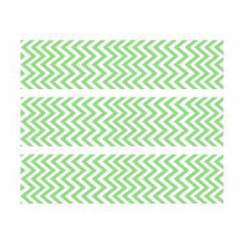 3 Bänder mit Kuchen Zucker Dekor Sparren grün