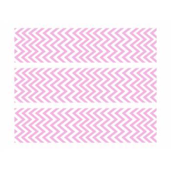 3 Kuchen-Streifen Zucker Dekor Sparren rosa