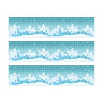 3 Kuchen Bänder Zucker Dekoration Weihnachten schneebedeckt