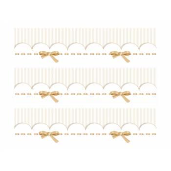 3 Kuchen Bänder Zucker Dekor Taube Gold