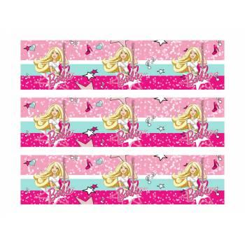 3 Bänder mit Zucker-Kuchen Barbie Pop Star