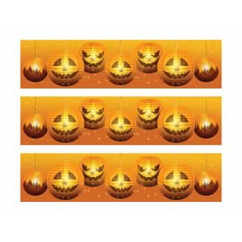 3 Kuchen Bänder Zucker Halloween Laterne