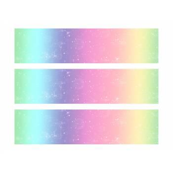 3 Bänder mit Kuchen Zucker-Dekor Regenbogen