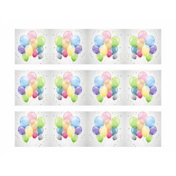 3 Kuchen Bänder Zucker Dekor Ballons