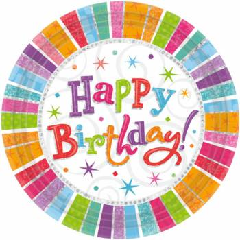 8 Teller Happy Birthday Colorstars