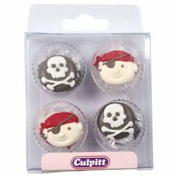 12 Mini-Tortenaufleger Pirates