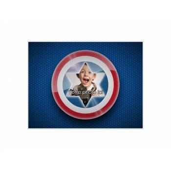 Dekor auf A4-Zucker Kapitän America zu personalisieren