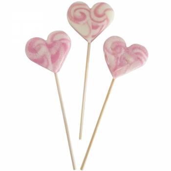 10 lollys Herz rosa