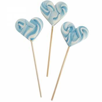 10 lollys Herz blaues