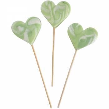 10 lollys Herz grünes