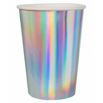 10 irisierte Rainbow-Becher