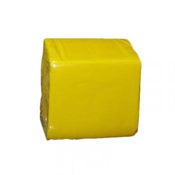 100 Mini Servietten gelb