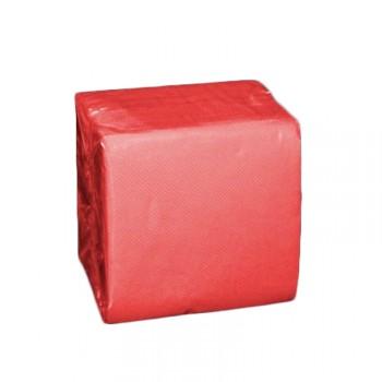 100 Mini Servietten rot