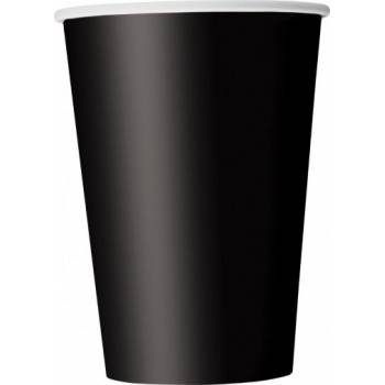 14 Schwarze Papierbecher