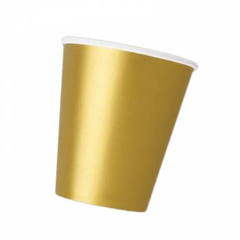 14 Gold Pappbecher