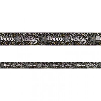 Gold/Silber alu-Birthday-Spruchband