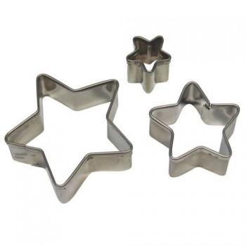 Kit 3 Sternen ausstechformen