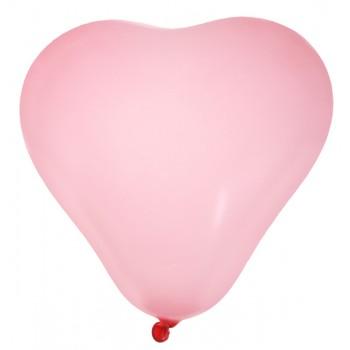 8 Ballons Herz rosa
