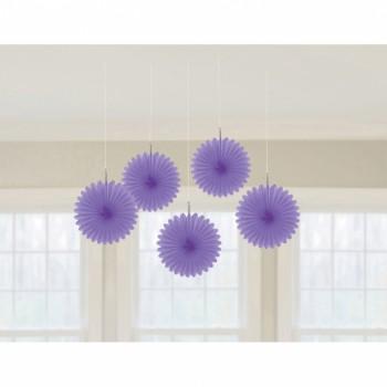 5 Suspensionen Fächer violett