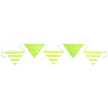 Streifen & Tupfen Wimpel grüne