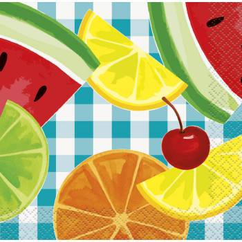 16 Servietten fruit party