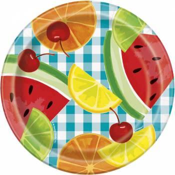 8 Dessert Teller Fruit Party