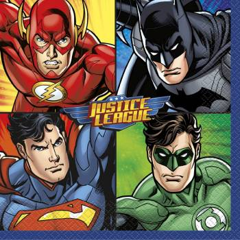 16 Justice League Servietten