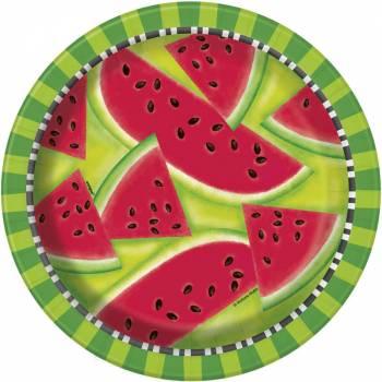 8 Teller Wassermelone