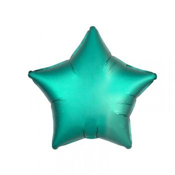 Ballon Helium Satin Luxus Smaragd Stern