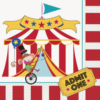 16 Servietten Karneval circus