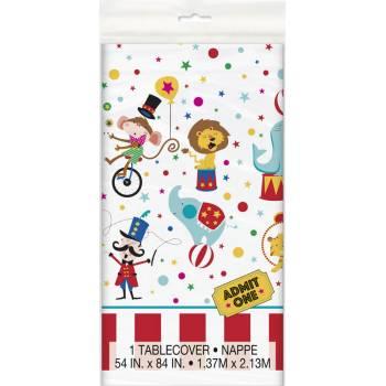 Kunststoff-Tischtuch Karneval circus
