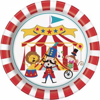 8 Dessert Teller Karneval circus