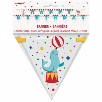 Banner Happy Birthday Karneval zirkus