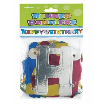 Bunte Happy birthday Banner