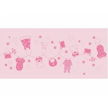 Einweg-Tischpfad Baby Fashion rosa