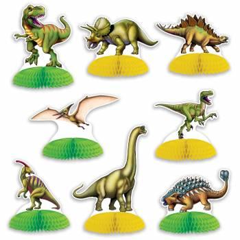 8 Dinosaurier-Dekor zu posieren