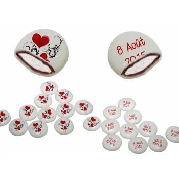 Chamachoc personalisierte Herzen Ornament Text