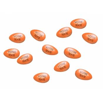 110 Personalisierte Schokoladendragees orange