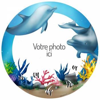 Dekor auf Zucker Delfine zu personalisieren