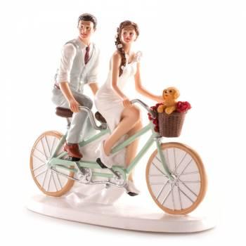 Brautpaar mit fahrrad figuren für Hochzeitstorte 20cm