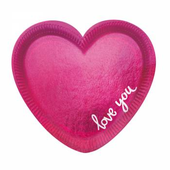 6 Teller Herz love