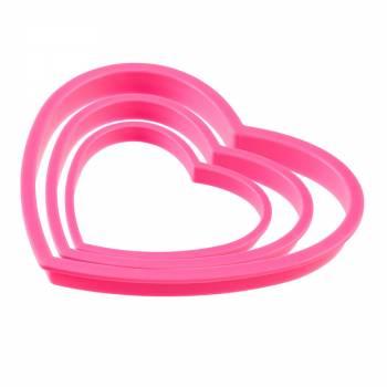 3-Kit ausstechform dem Rosa Herzen