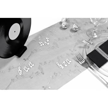 Schwarzer Weg des Tisches die Musik