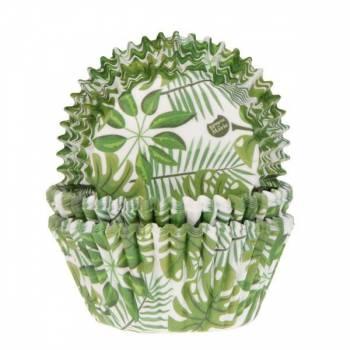 50 backförmchen tropische grüne Pflanzen