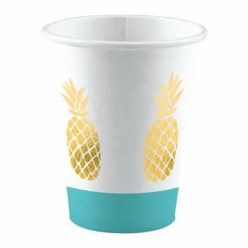 8 Ananas-Becher